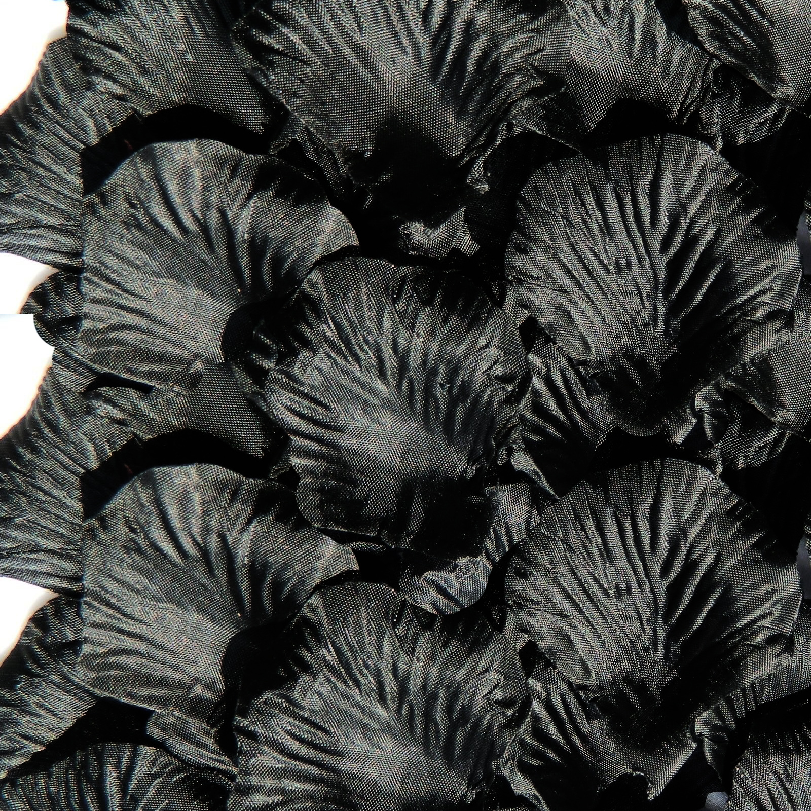 Silk Rose Flower Petals (100 pack) Black