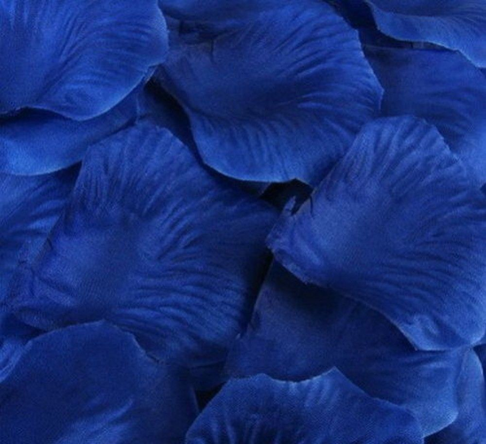 Silk Rose Flower Petals (100 pack) Royal Blue