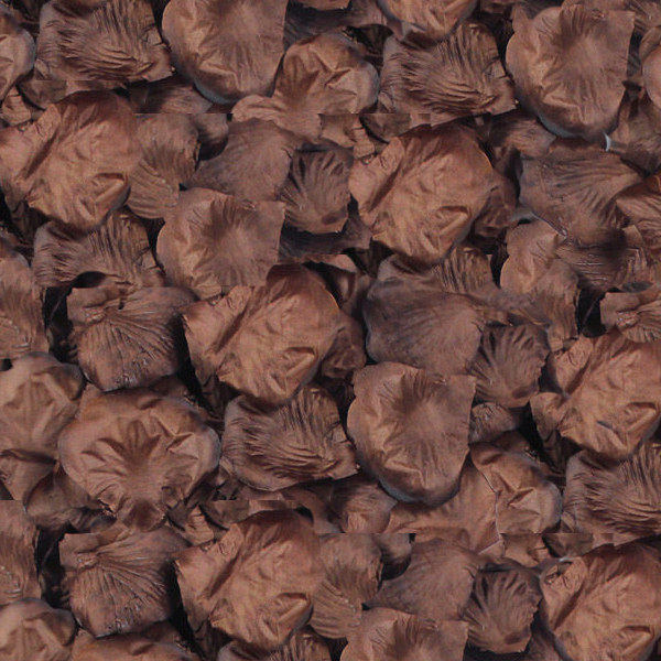 Silk Rose Flower Petals (100 pack) Brown Chocolate