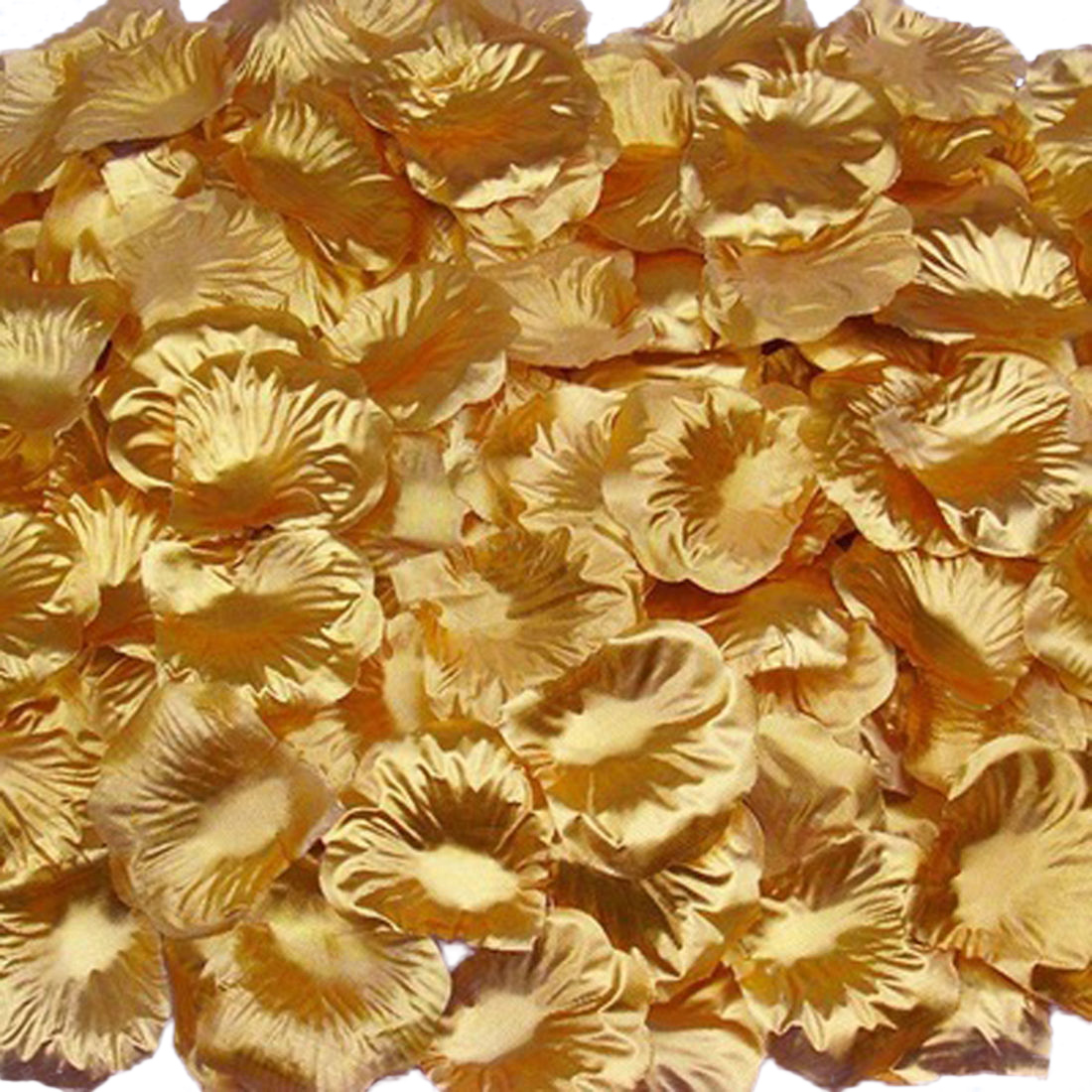 Silk Rose Flower Petals (100 pack) Gold