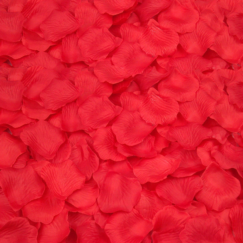 Silk Rose Flower Petals (100 pack) Red