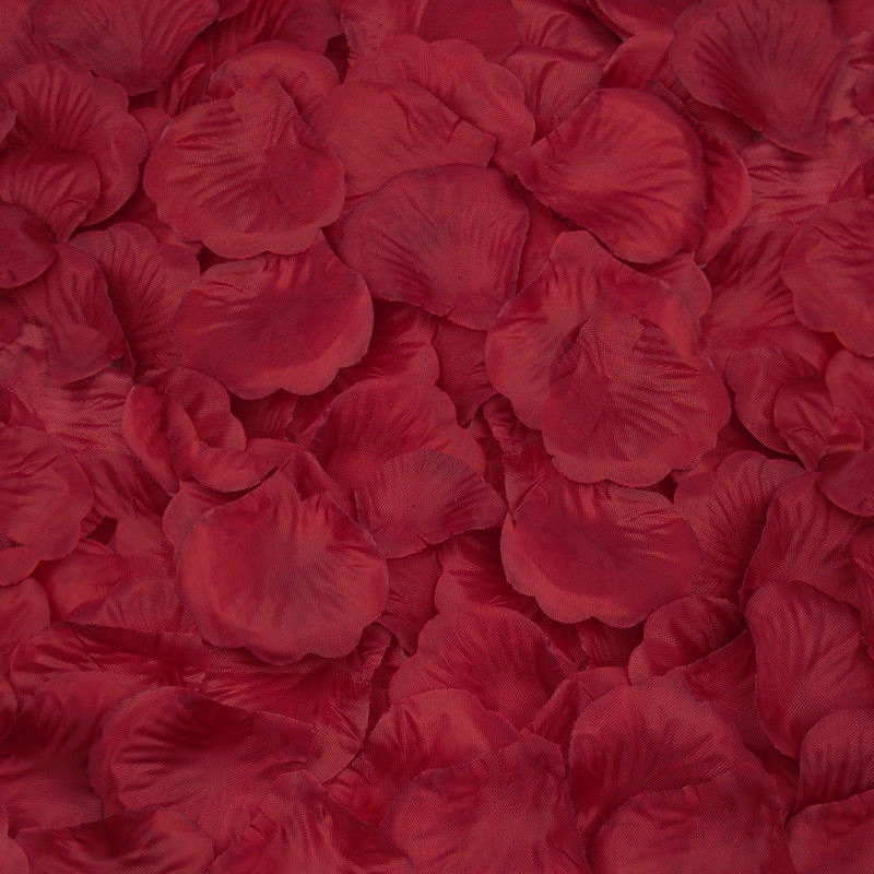 Silk Rose Flower Petals (100 pack) Red Dark