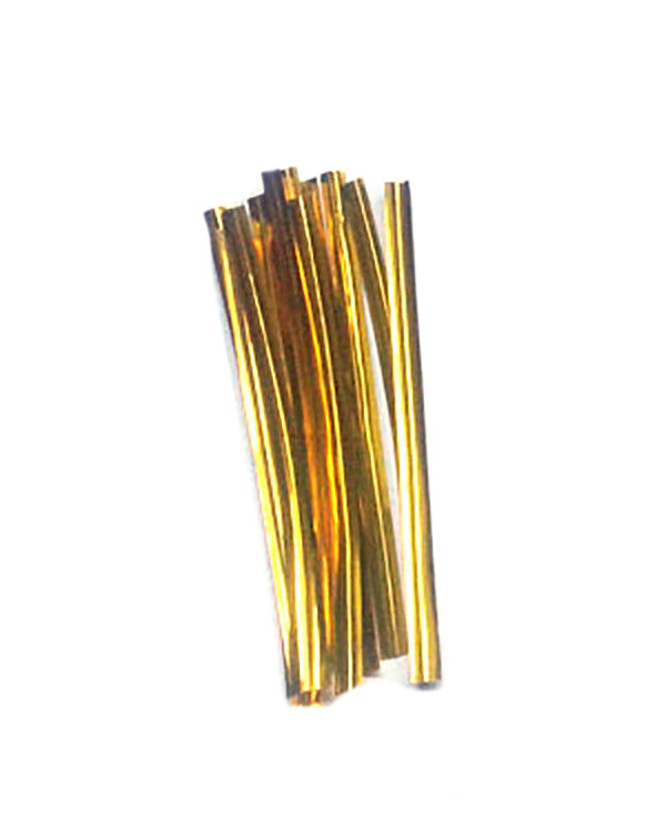 "Metallic Twist Ties 3"" Gold (100)"