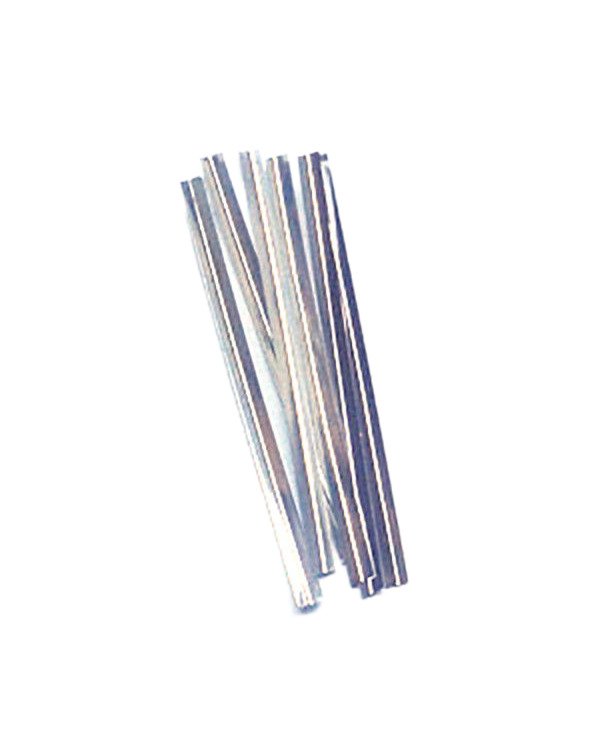 "Metallic Twist Ties 3"" Silver (100)"
