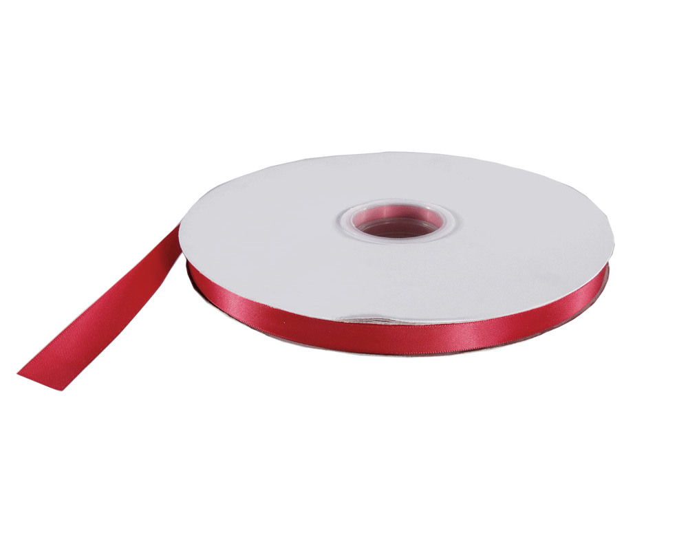"1/4"" Satin Ribbon Double Faced 100 Yard Roll Red"