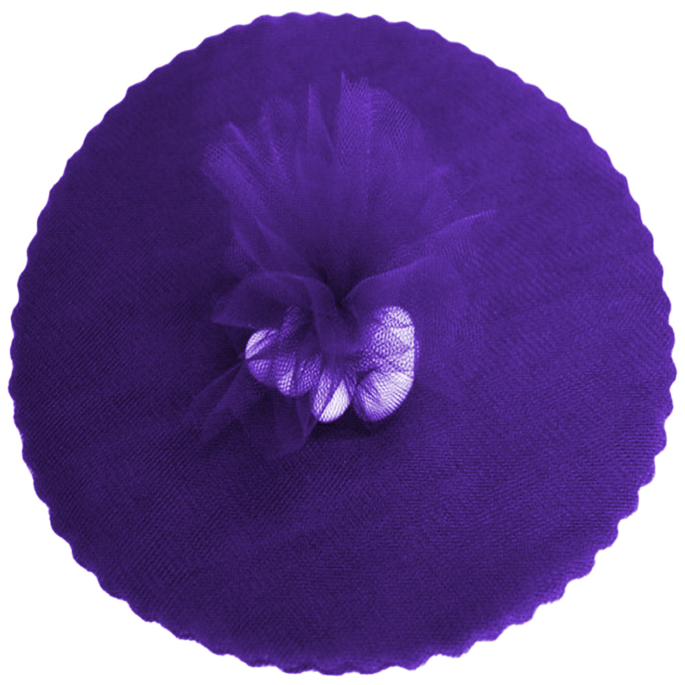 "9"" Tulle Round Circle Scallop Edge (50) Purple"