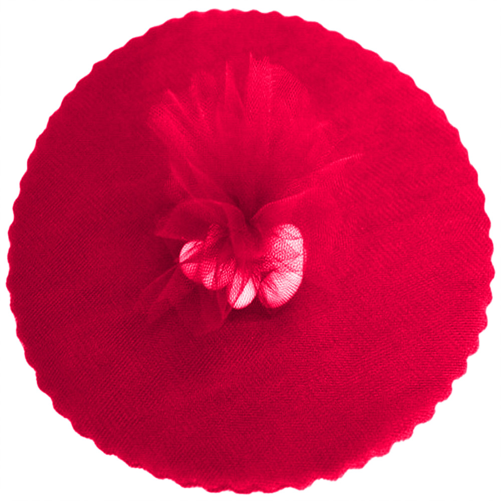 "9"" Tulle Round Circle Scallop Edge (50) Red"