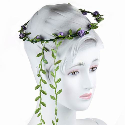 Flower Hair Crown Wreath Garland Lavender