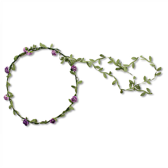 Flower Hair Crown Wreath Garland Purple