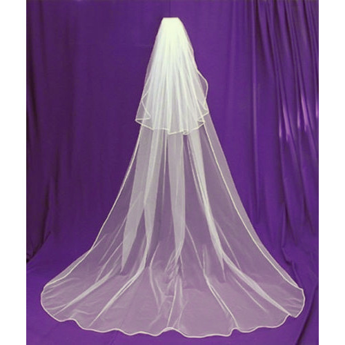 Wedding Veil Cathedral Length 2 Tier with Comb Ivory