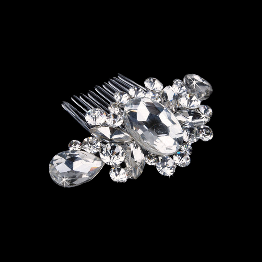 Silver Hair comb Crystals (Model 1)