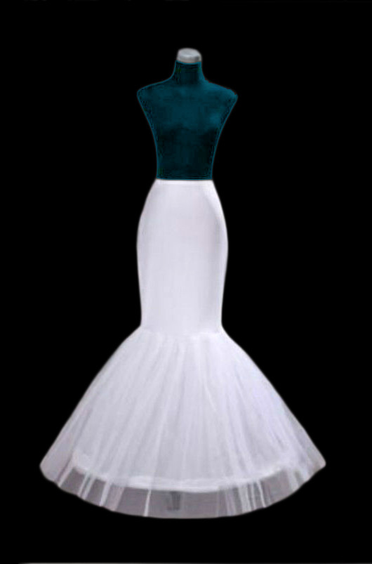 A Line 1 Hoop Mermaid Petticoat One Size White