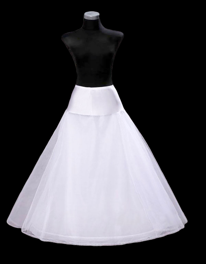 A Line 1 Hoop Petticoat One Size, White