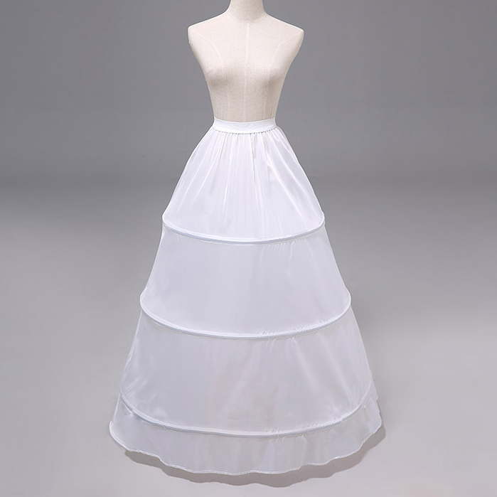 3 Hoop 1 Layer Petticoat Underskirt Adjustable White