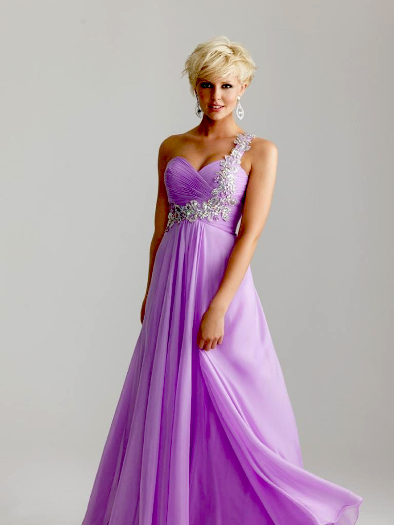 Dark Lavender Chiffon Bridesmaid Prom Party Evening Dress Size 8