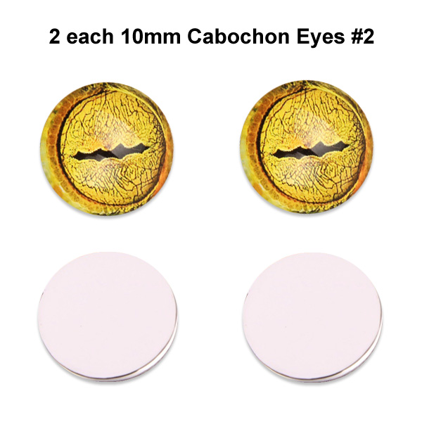 10mm x 3mm Glass Cabochon Eyes (2 pcs) #2
