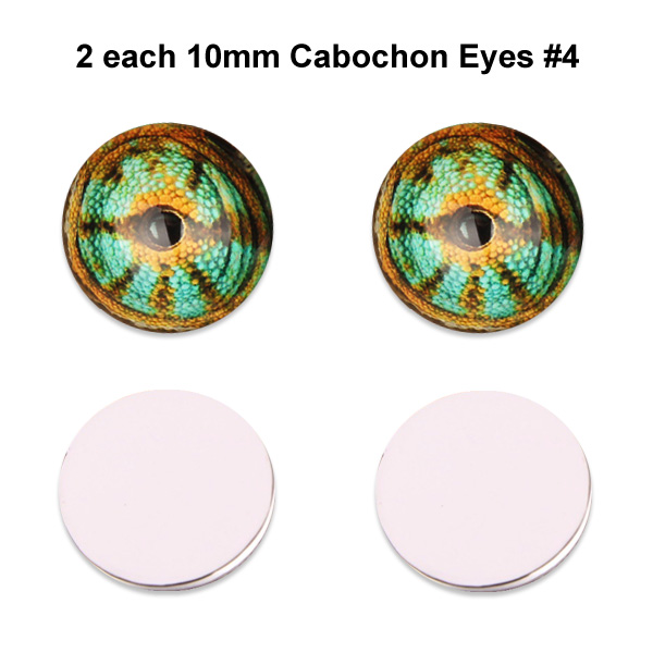 10mm x 3mm Glass Cabochon Eyes (2 pcs) #4