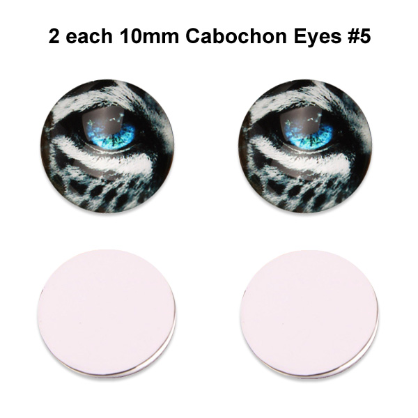 10mm x 3mm Glass Cabochon Eyes (2 pcs) #5