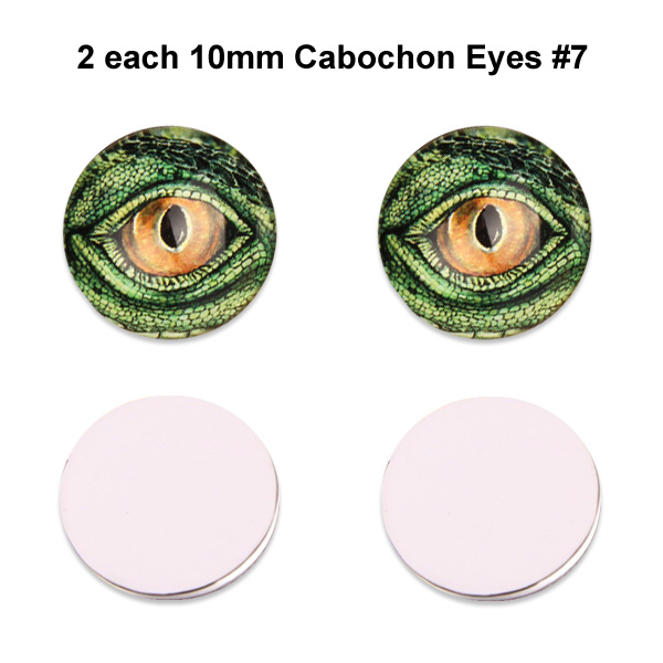 10mm x 3mm Glass Cabochon Eyes (2 pcs) #7