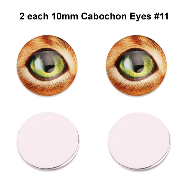 10mm x 3mm Glass Cabochon Eyes (2 pcs) #11
