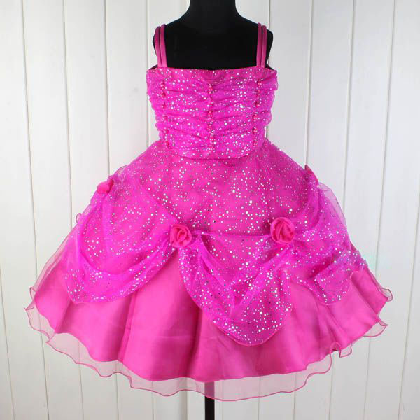 Fuchsia Fancy Flower Girl Wedding Pageant Princess Dress Size 9