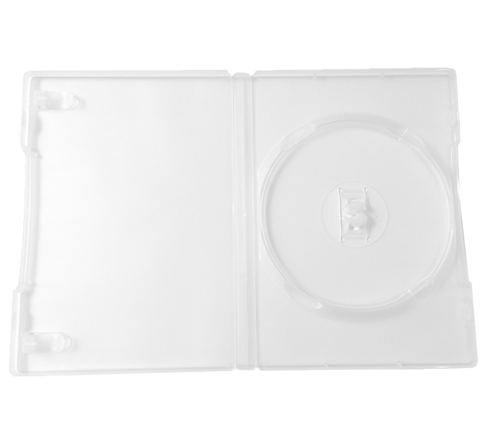 Standard 14mm Single CD/DVD Storage Case 5 Pack Clear
