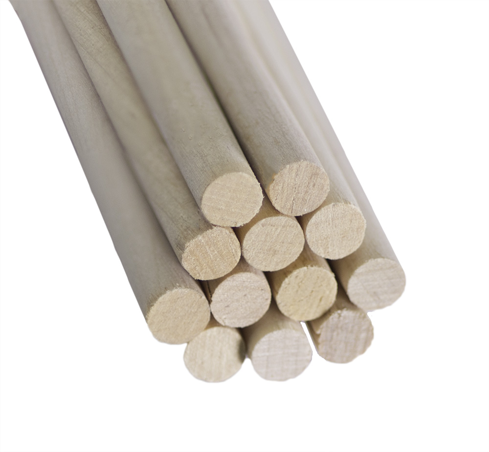 "Wood Dowel Rod 3/8 x 12"" (100 Pack)"