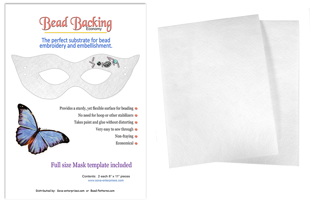 "Bead Backing Economy Foundation 8"" x 11"" White (2)"
