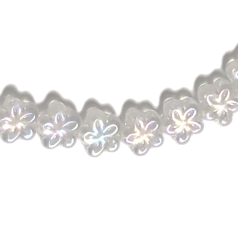 Flower Disc 8mm Crystal AB 5 Petal (50)