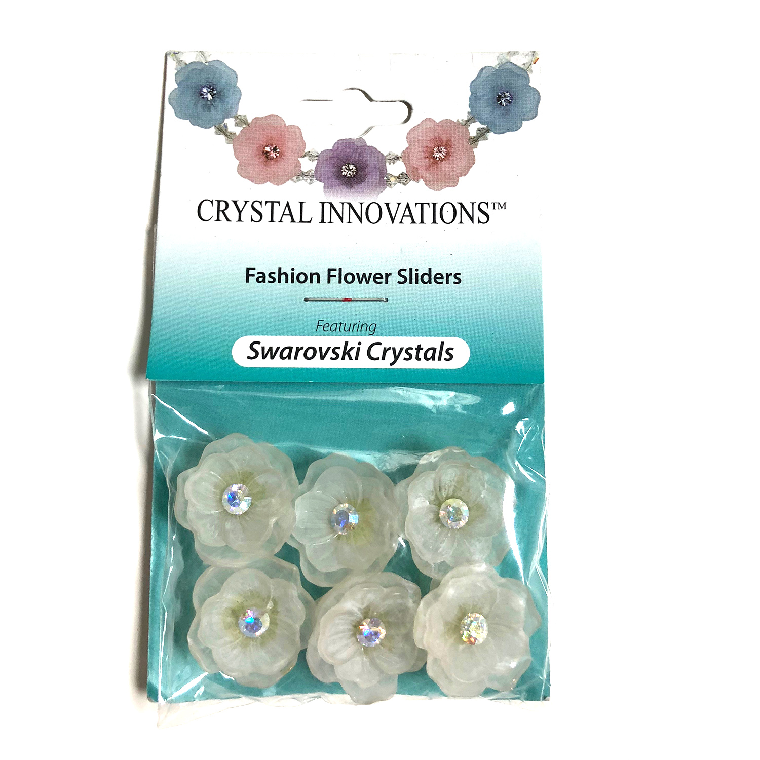 Crystal Innovations 3D Flower Sliders 18mm w/Swarovski Crystal