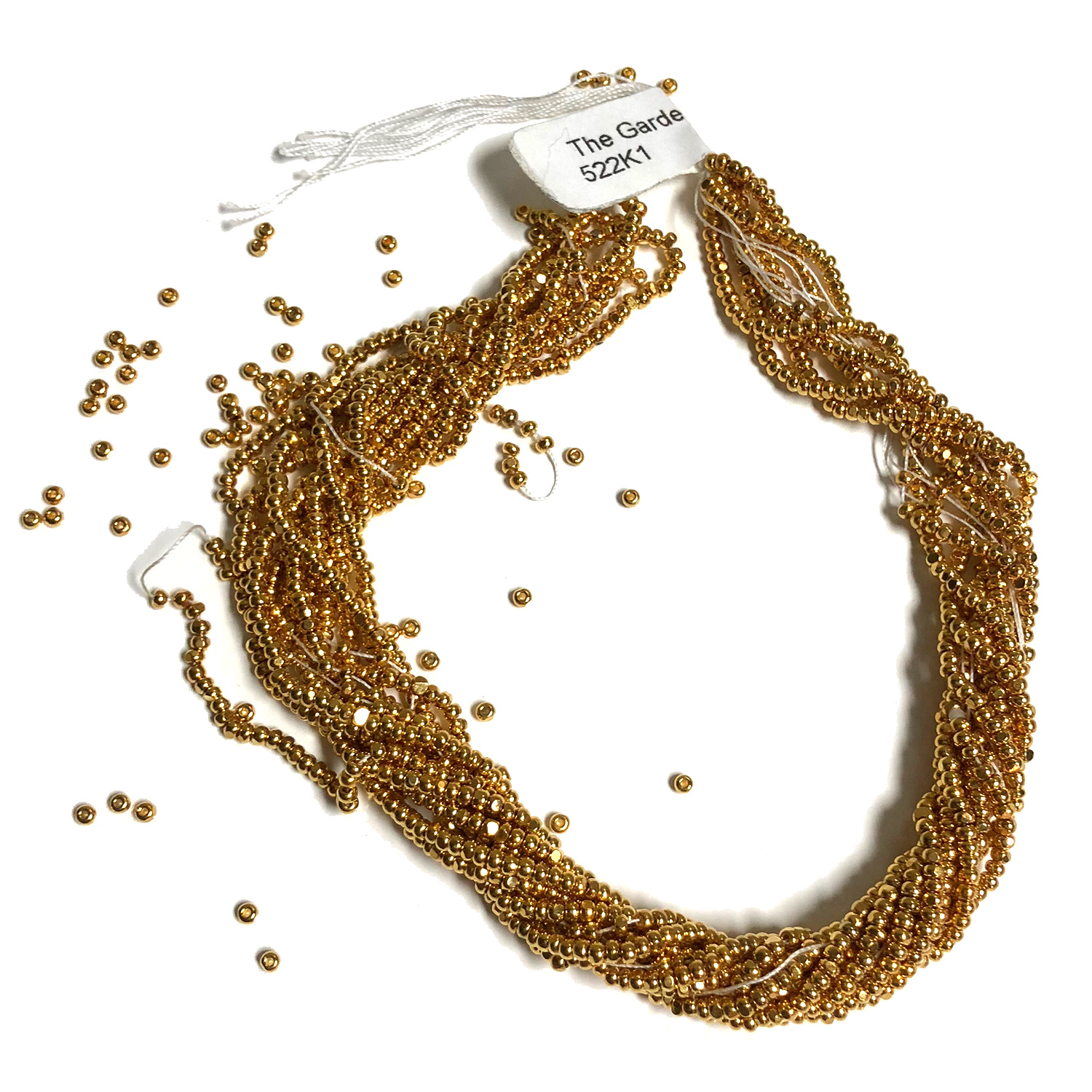 Size 11 Cut Seed, Gold Plated 22K 6 Strands