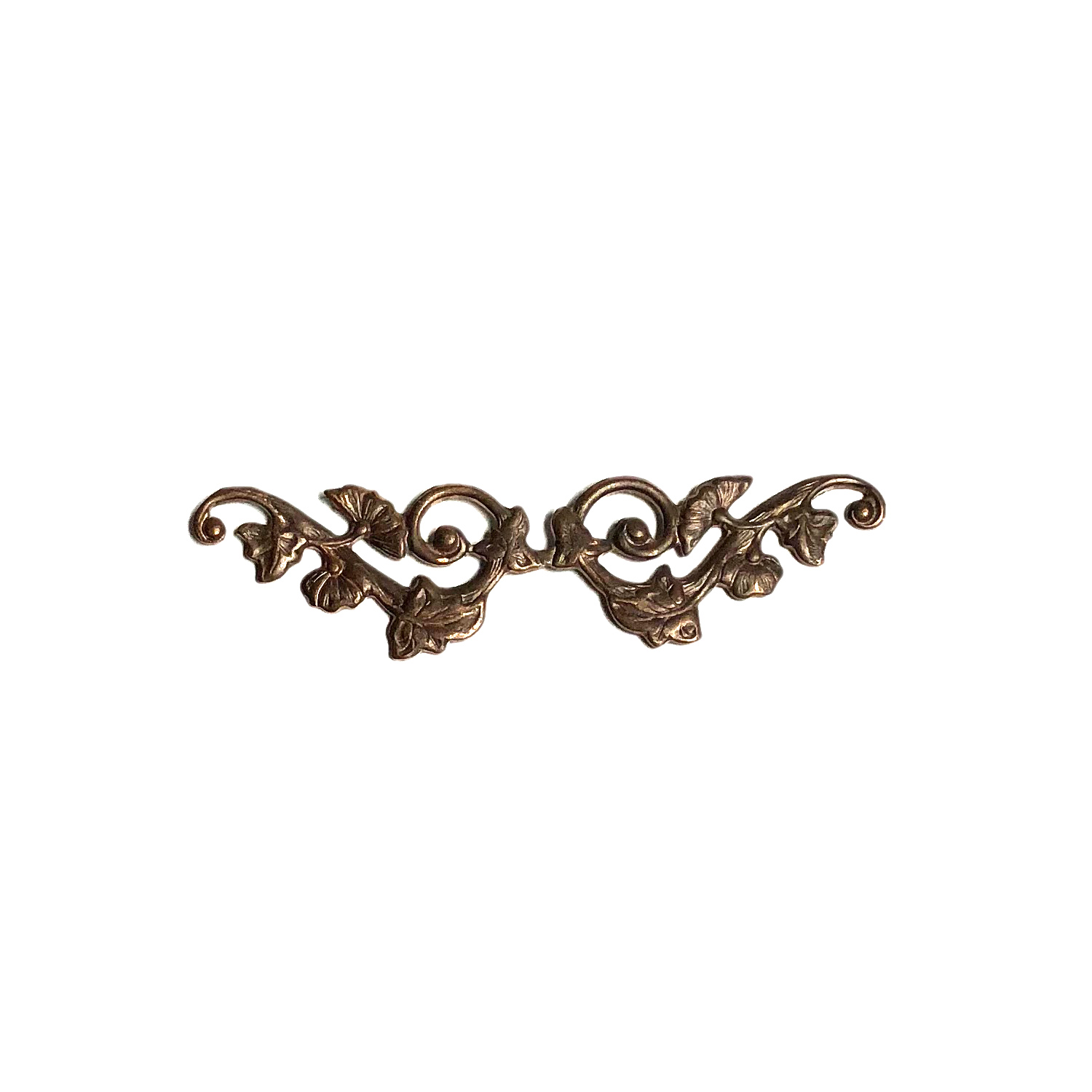 Vintaj Natural Brass 55x15mm Deco Vines Border Filigree