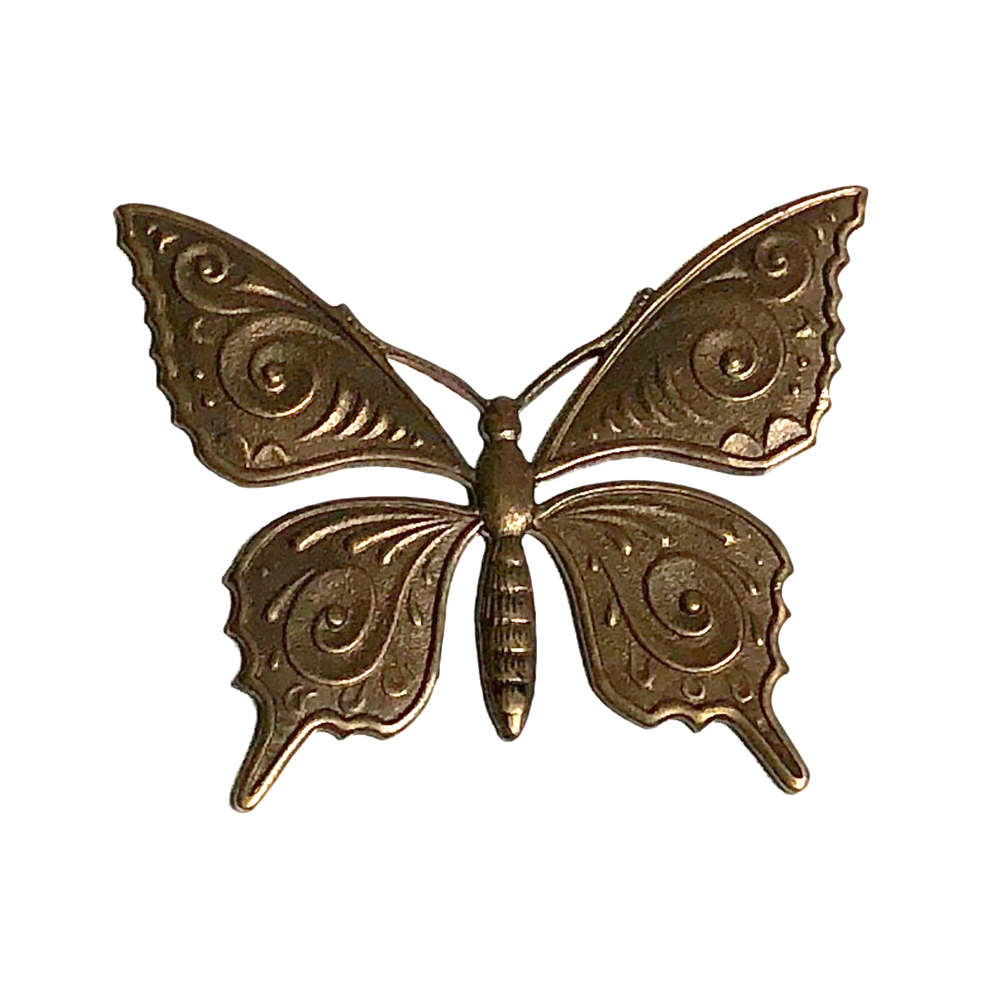 Vintaj Natural Brass 36x30mm Butterfly Pendant