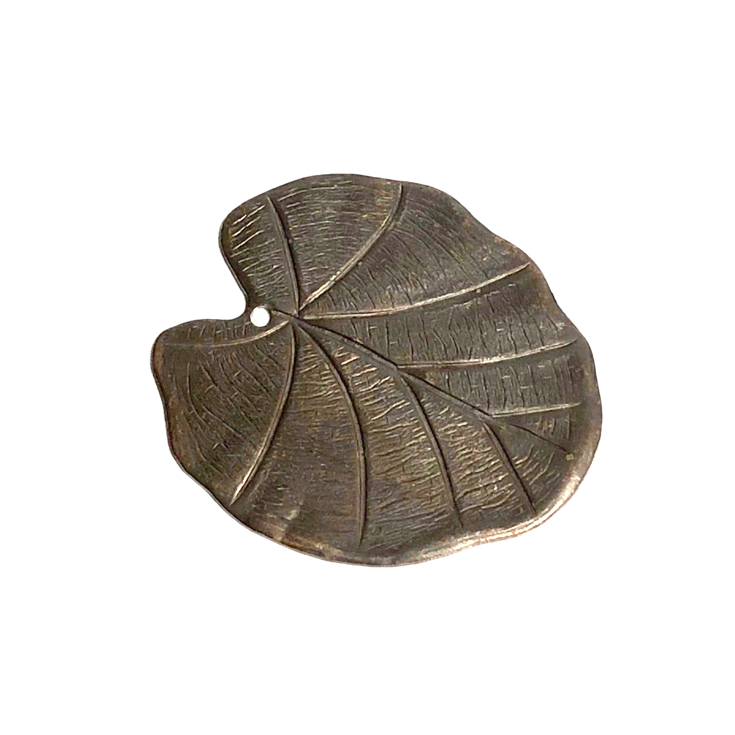 Vintaj Natural Brass Nouveau Leaf Pendant 28x31mm