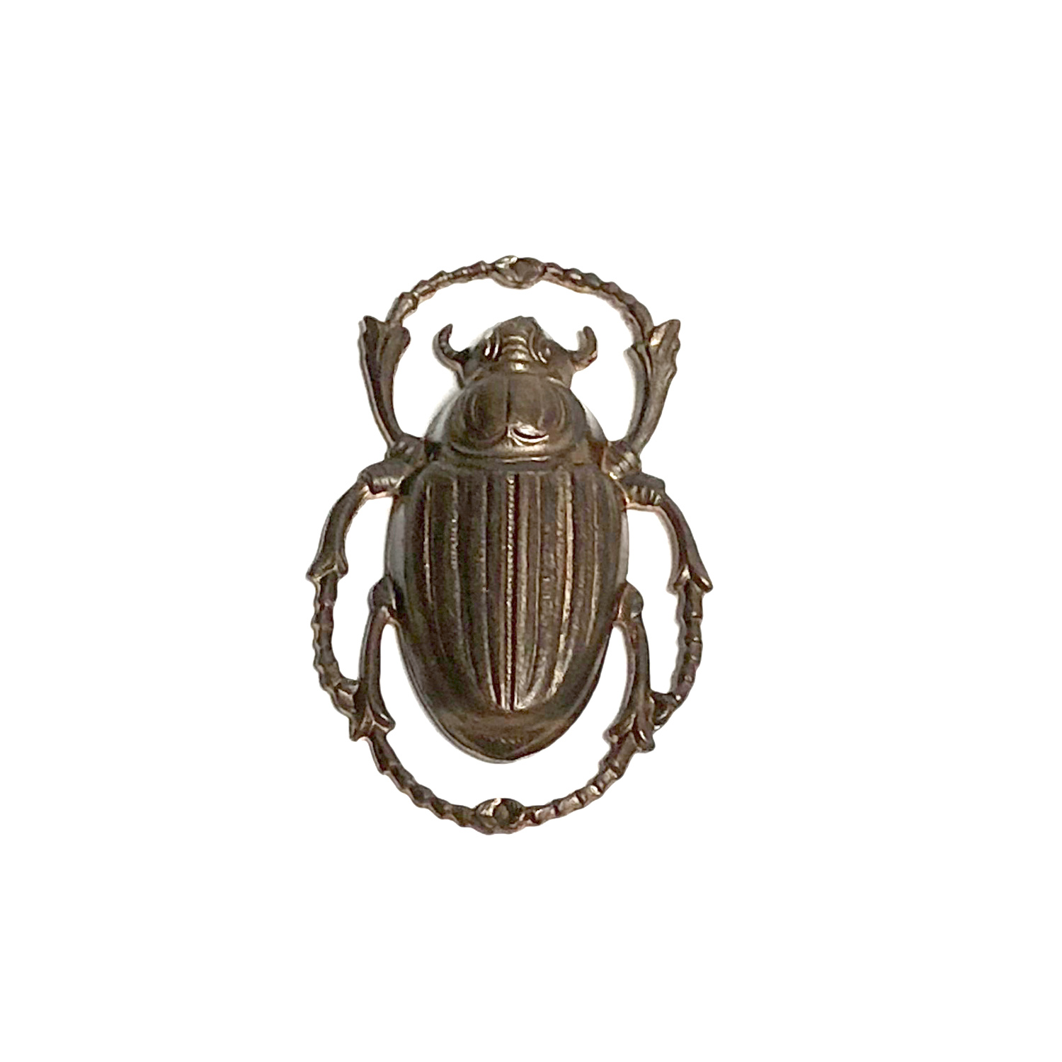 Vintaj Natural Brass Scarab Pendant 32x20mm