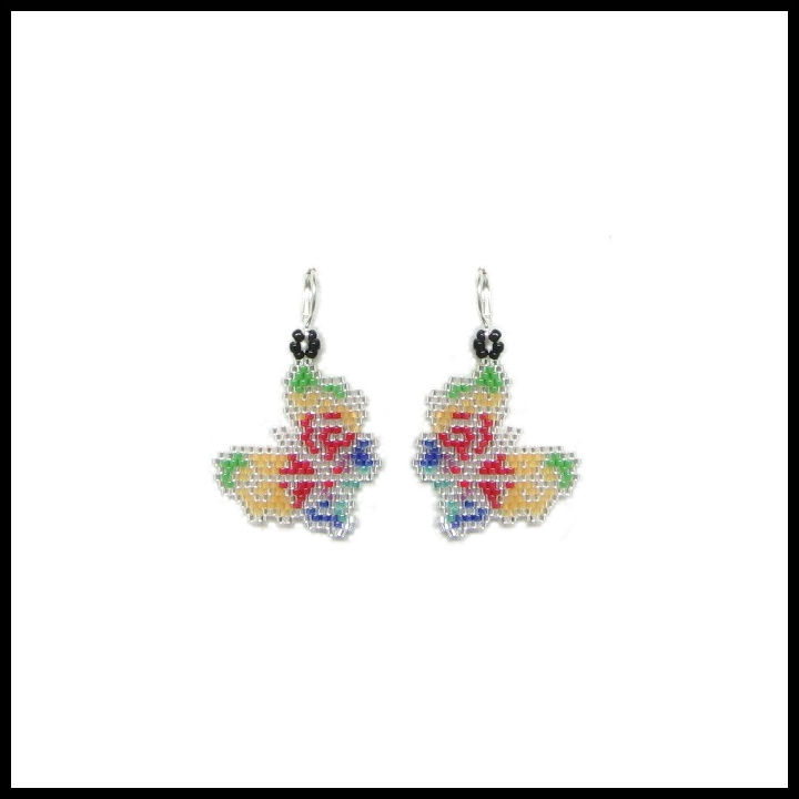 Rainbow Butterflies Earrings