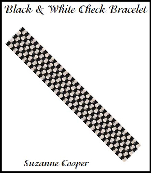 Black and White Check Bracelet
