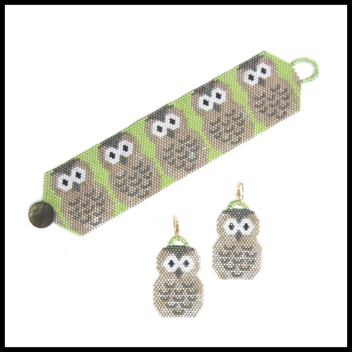 Parliament of Owls Bracelet & Earrings