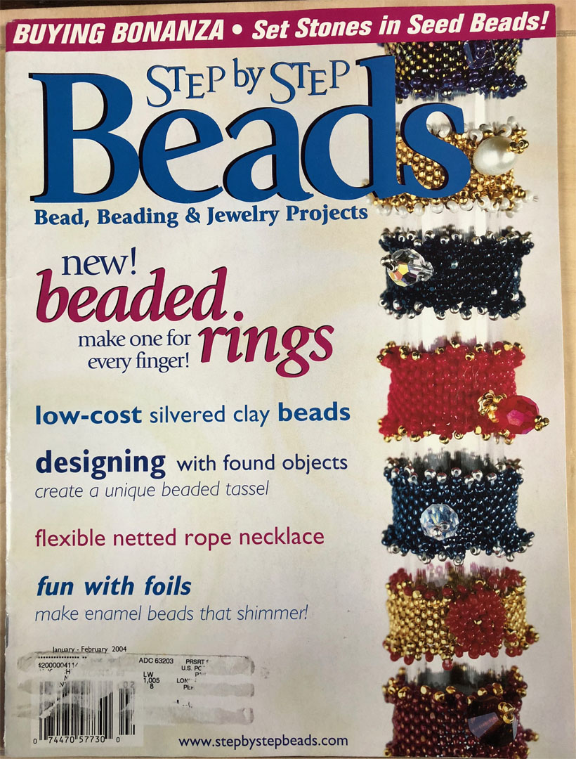 2004 Jan-Feb Vol 2 No 1, Step by Step Beads Magazine (Used)