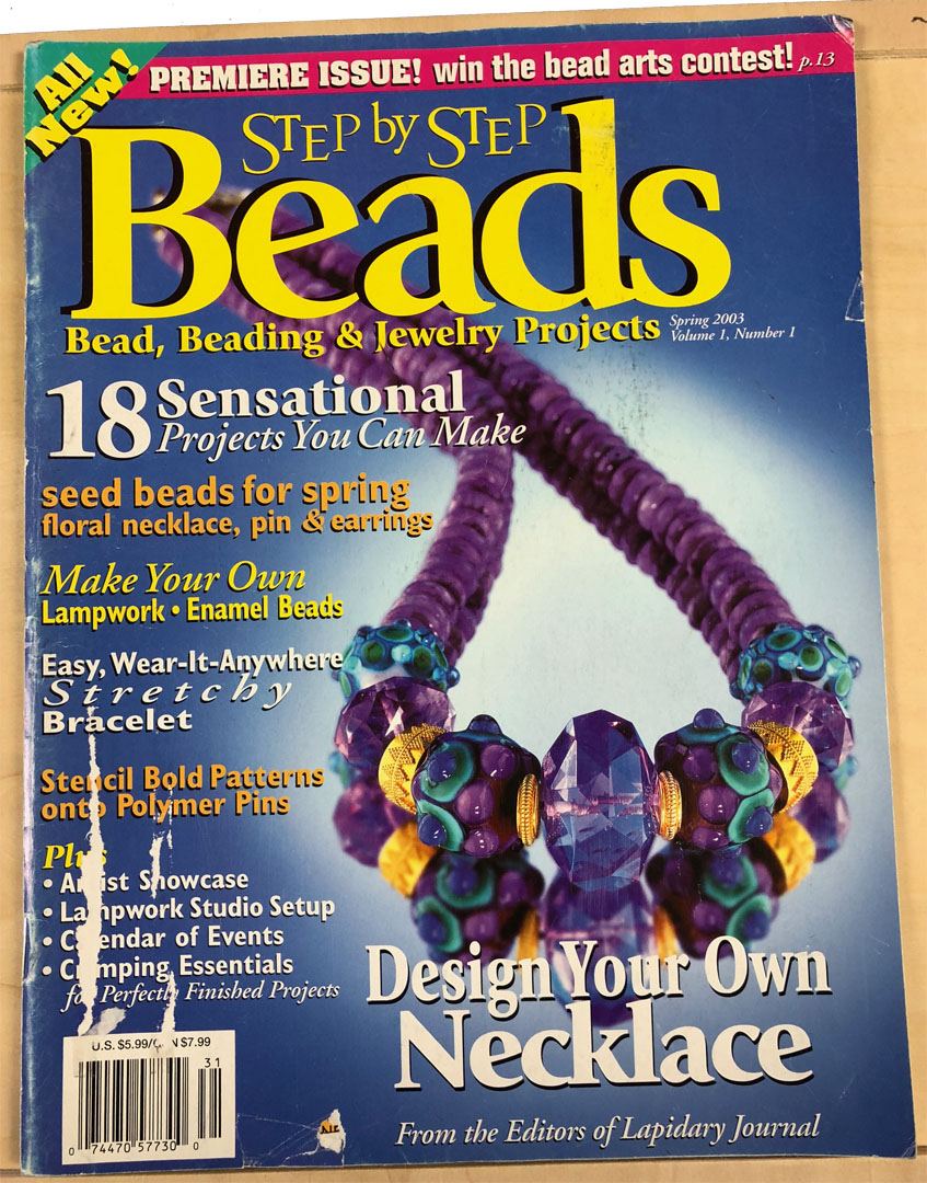 2003 Spring Vol 1 No 1, Step by Step Beads Magazine (Used)