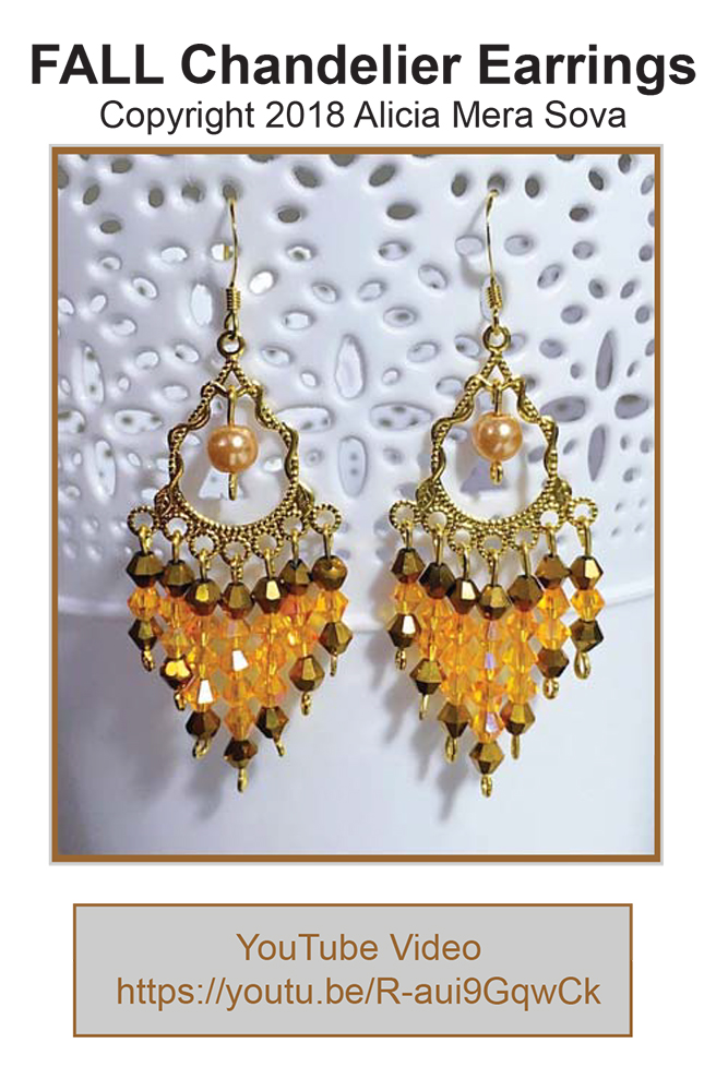 Free FALL Chandelier Earrings Tutorial