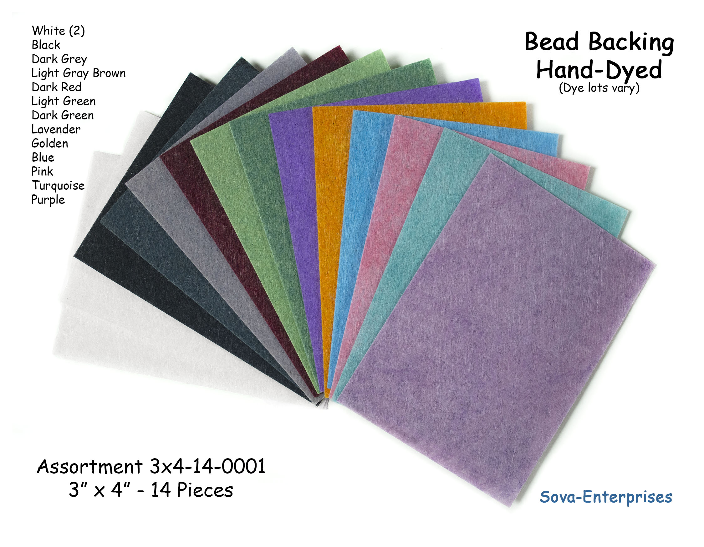 "Bead Backing Economy Foundation 3"" x 4"" Assort 3x4-14-0001 (14)"