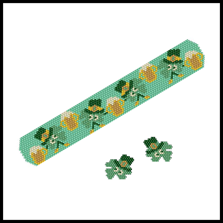 Dancing Shamrocks Bracelet & Earrings