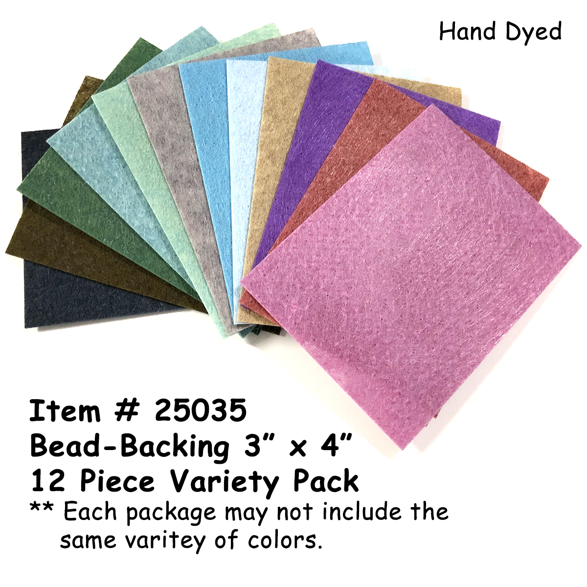 "Bead Backing Economy Foundation 3"" x 4"" Variety Pack 12 Pieces"