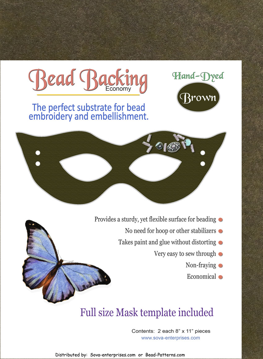 "Bead Backing Economy Foundation 8"" x 11"" Brown (2)"