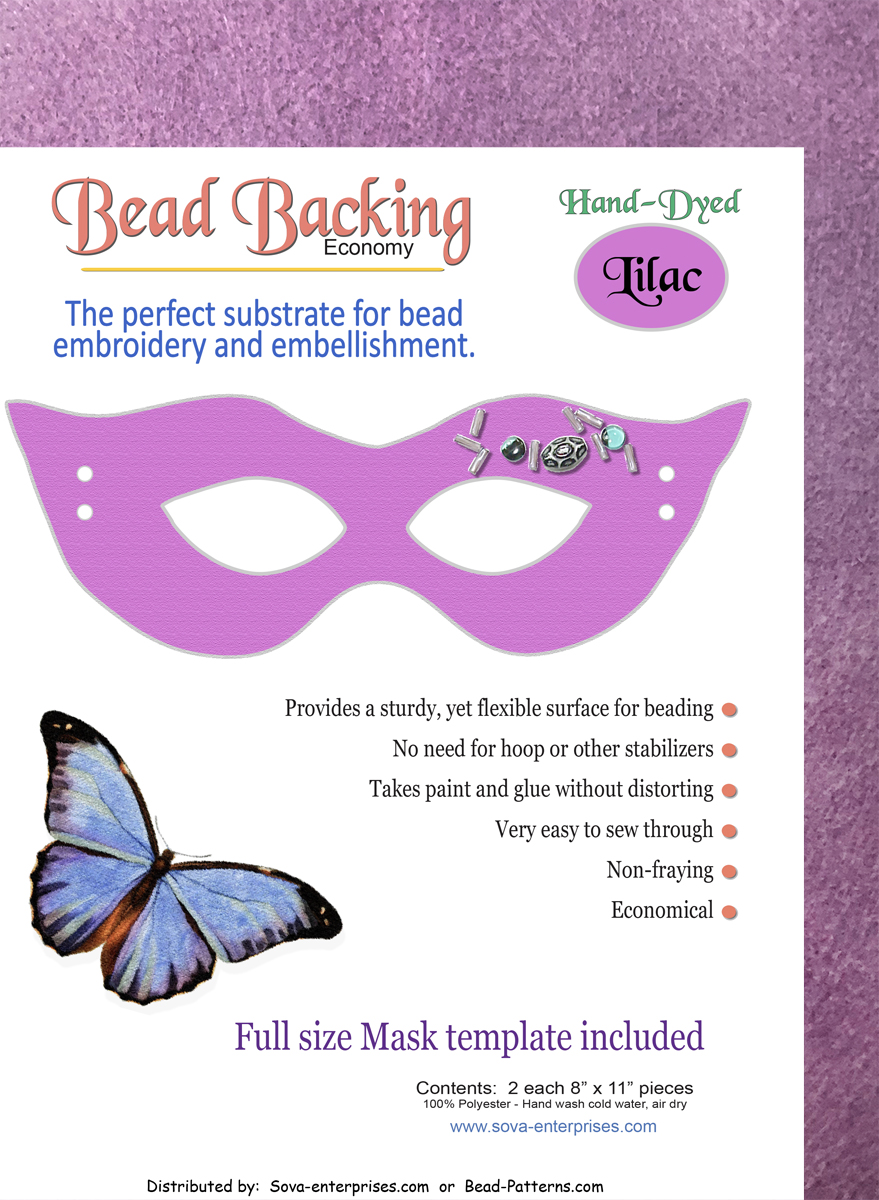 "Bead Backing Economy Foundation 8"" x 11"" Lilac (2)"