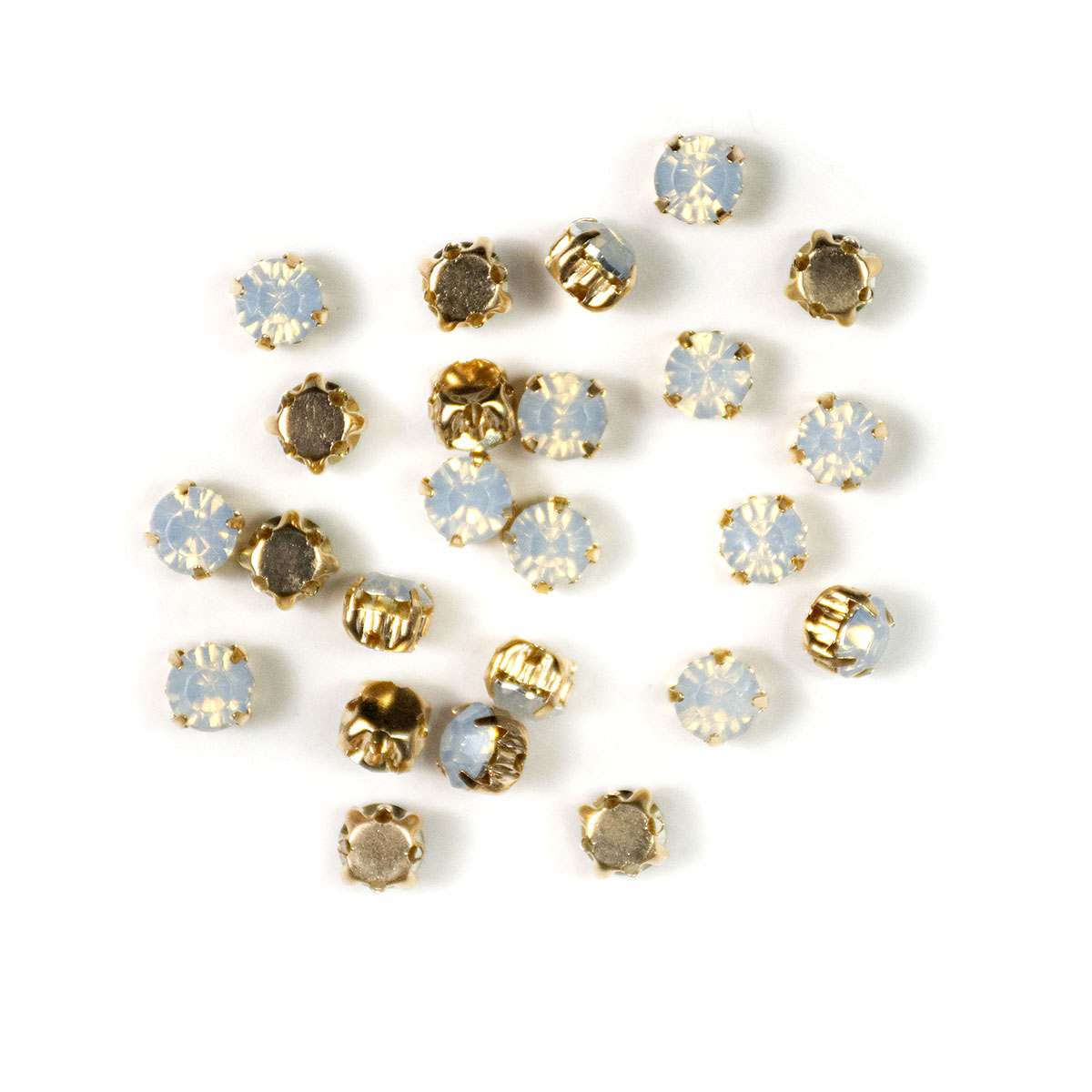 Rose Montee 6mm Opal in Gold Setting (24 pieces)