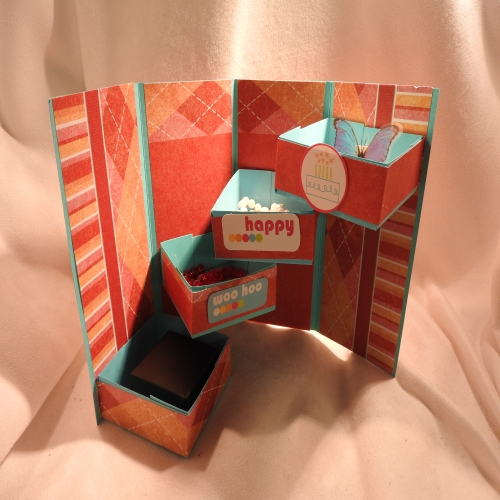 Make a Paper Staircase Gift Box