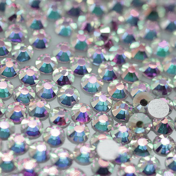 SS16 (3.8 to 4mm) Flat Back Rhinestones, Crystal AB (144)