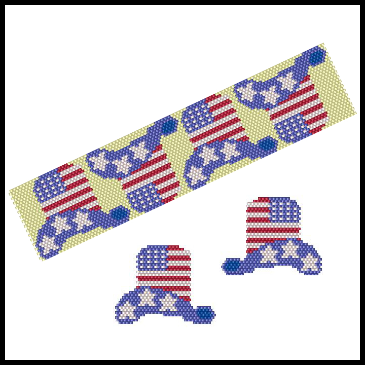 Hats Off Happy 4th Reflections Bracelet & Earrings